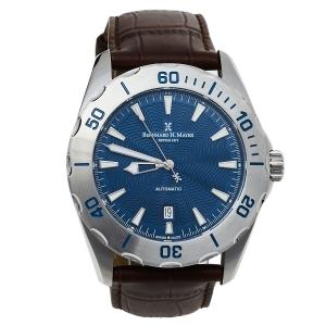 Bernhard H. Mayer Blue Stainless Steel Limited Edition Ballad BH05/CWR Men's Wristwatch 44 mm
