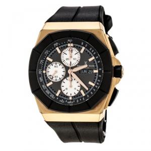 ساعة يد رجالية بيرنارد أتش.ماير إكزيمبلر ذهبي وردي سوداء 46 مم
