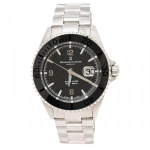 Bernhard H. Meyer Black Stainless Steel Nauticus Austro Limited Edition Men's Wristwatch 45 mm