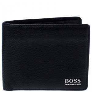 Boss By Hugo Boss Black Leather Bifold Wallet