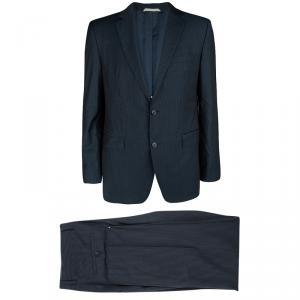 Boss by Hugo Boss Navy Blue Striped Wool The James/Sharp 2 Suit XL