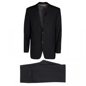 Boss by Hugo Boss Black Striped Wool Pasolini1/Movie1 Suit XL