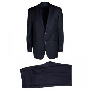 Boss By Hugo Boss Navy Blue Wool Pin Striped Passolini1/Movie1 Suit XL