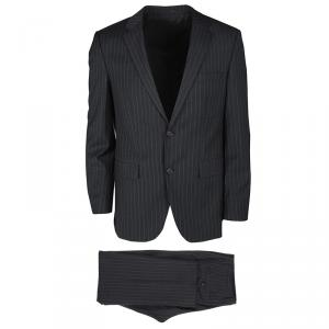 Boss By Hugo Boss Grey Wool Striped The Grand/Central1 Suit M
