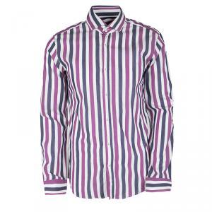 Boss By Hugo Boss Multicolor Striped Long Sleeve Slim Fit Shirt M