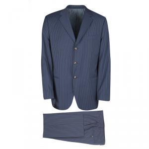 Boss By Hugo Boss Blue Striped Wool The Who/Sharp Suit XXL