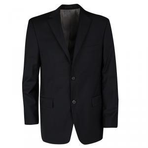 Boss by Hugo Boss Black Wool Regular Fit Two Button Blazer M