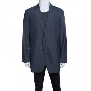 Boss By Hugo Boss Grey Wool Mohair Passolini Tailored Blazer 4XL