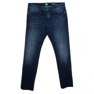 Boss Green by Hugo Boss Indigo Faded Effect Stretch Denim Slim Fit Jeans L