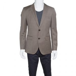 Boss by Hugo Boss Brown Wool Suede Elbow Patch Detail Smith Blazer M