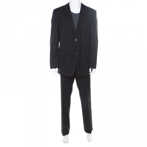 Boss by Hugo Boss Black Wool Pasolini/Movie Suit 2XL