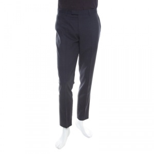 Boss By Hugo Boss Grey Wool Tailored Trousers S