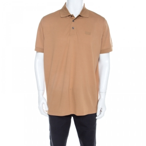 Boss By Hugo Boss Camel Brown Cotton Pique Short Sleeve Polo T Shirt XL