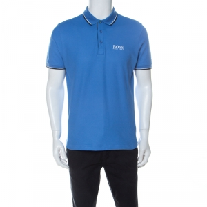 Boss by Hugo Boss Blue Cotton Blend GR-Peppo Pro Polo Shirt M