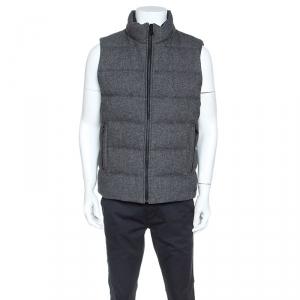 Boss By Hugo Boss Grey Wool Reversible Darnom2 Puffer Jacket L