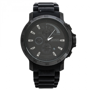 Hugo Boss Black PVD Coated Stainless Steel Boss HB1512393 Chronograph Men's Wristwatch 47 mm