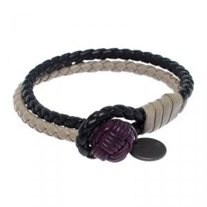 Bottega Veneta Multicolor Intrecciato Nappa Leather Double Strand Bracelet