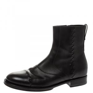 Bottega Veneta Cocoa Leather Zip Ankle Boots Boots Size 40