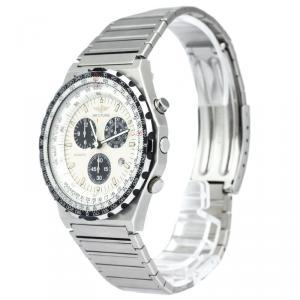 Breitling Ivory Stainless Steel Navitimer Jupiter Pilot Men's Wristwatch 42MM