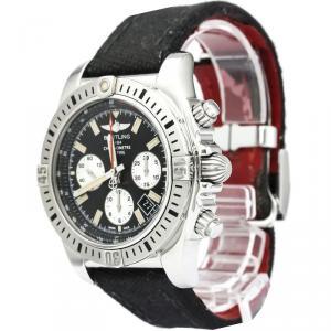 Breitling Black Stainless Steel Chronomat Men's Wristwatch 44MM