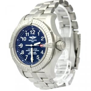 Breitling Blue Titanium Avenger Men's Wristwatch 44MM