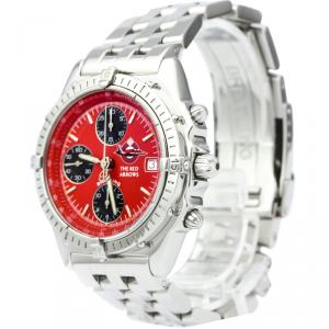 Breitling Red Stainless Steel Chronomat Men's Wristwatch 40MM