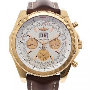 Breitling Beige 18K Rose Gold Bentley 6.75 Limited Edition Men's Wristwatch 50MM