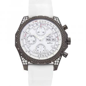 Breitling White Blacksteel DIamonds Bentley GT Midnight M1336267/A729 Men's Wristwatch 45 MM
