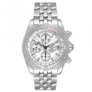 Breitling Silver Stainless Steel Chronomat Evolution A13356 Men's Wristwatch 44 MM