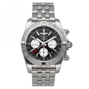 Breitling Black Stainless Steel Chronomat AB042011/BB56 Men's Wristwatch 44 MM