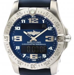 Breitling Blue Titanium Aerospace Evo Quartz E79363 Men's Wristwatch 43 MM