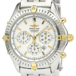 Breitling MOP 18K Yellow Gold And Stainless Steel Windrider Flyback Chronograph B35312 Men's Wristwatch 39 MM