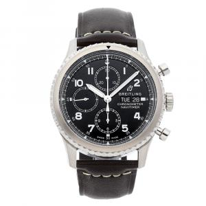 Breitling Black Stainless Steel Navitimer 8 Chronograph A13314101/B1X1 Men's Wristwatch 43 MM