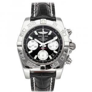 Breitling Black Stainless Steel Chronomat AB014012/BA52 Men's Wristwatch 41 MM