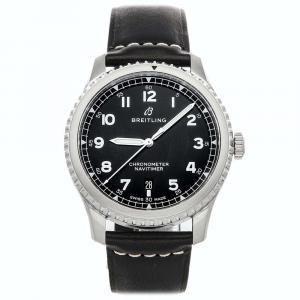 Breitling Black Stainless Steel Navitimer 8 A17314101B1X1 Men's Wristwatch 41 MM