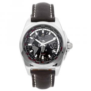 Breitling Black Stainless Steel Galactic WB3510U4/BD94 Men's Wristwatch 44 MM