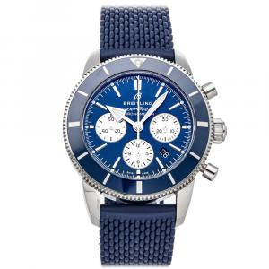 Breitling Blue Stainless Steel Superocean Heritage II Chronograph AB0162161C1S1 Men's Wristwatch 44 MM