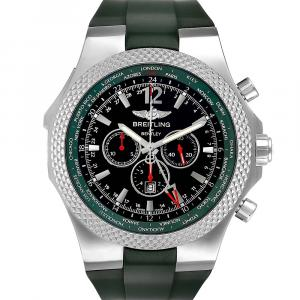 Breitling Black Stainless Steel Bentley GMT Limited Edition A47362 Men's Wristwatch 49 MM