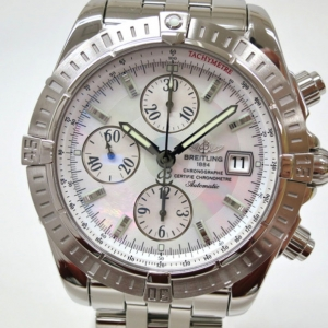 Breitling Choronomat Evolution MOP Wristwatch Shell Mens