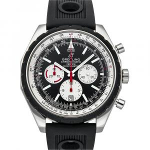 Breitling Black Stainless Steel Chrono-Matic A1436002/B920 Men's Wristwatch 49 MM