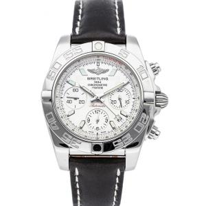 Breitling Silver Stainless Steel Chronomat AB014012/G711 Men's Wristwatch 41 MM