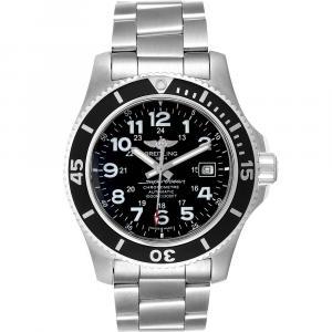 Breitling Black Stainless Steel Superocean II 44 A17392 Men's Wristwatch 44MM