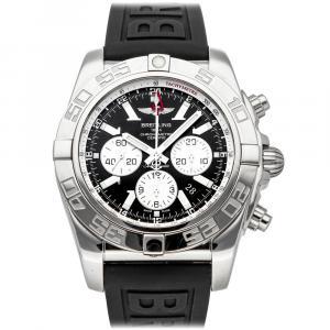 Breitling Black Stainless Steel Chronomat GMT AB041012/BA69 Men's Wristwatch 47 MM