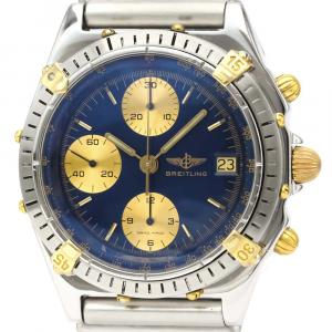 Breitling Blue 18k Yellow Gold And Stainless Steel Chronomat B13047 Automatic Men's Wristwatch 40 MM