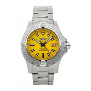 Breitling Yellow Stainless Steel Avenger Seawolf A17319101I1A1 Men's Wristwatch 45 MM