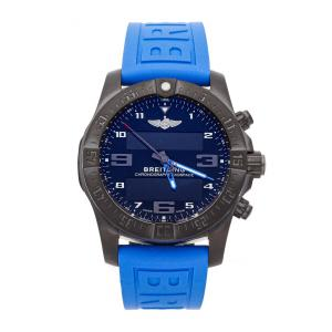 Breitling Blue PVD Coated Titanium Exospace B55 Night Mission VB5510H2/BE45 Men's Wristwatch 46 MM