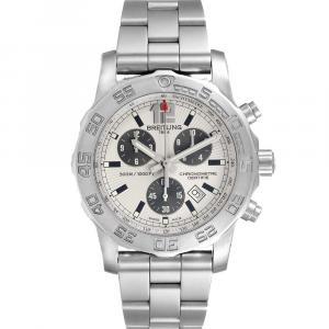 Breitling Silver Stainless Steel Colt Chronograph A73387 Quartz Men's Wristwatch 44 MM
