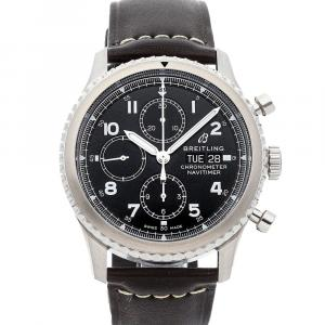 Breitling Black Stainless Steel Navitimer 8 Chronograph A13314101B1X1 Men's Wristwatch 43 MM