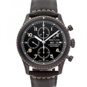 Breitling Black Blacksteel Navitimer 8 Chronograph M13314101B1X1 Men's Wristwatch 43 MM