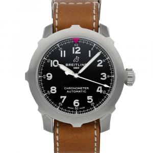 Breitling Black Stainless Steel Aviator Super 8 B20 AB2040101B1X1 Men's Wristwatch 46 MM